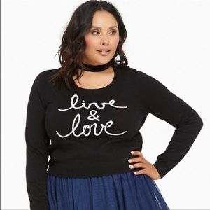 "Torrid ""Live & Love Crop Sweater"